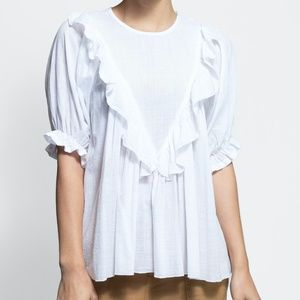 The Great Ruffle Triangle Top